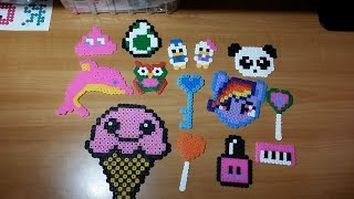 getlinkyoutube.com-Le mie creazioni in Pyssla - Hama beads !!!
