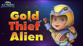 Vir: The Robot Boy   Hindi Cartoons for kids   Gold Thief Alien   WowKidz Action width=