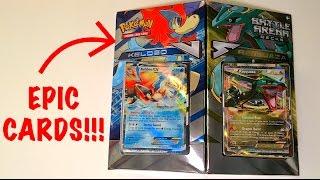 getlinkyoutube.com-Pokémon Cards - Keldeo vs Rayquaza Battle Arena Decks Opening!!