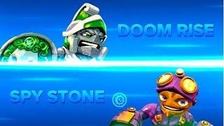 getlinkyoutube.com-Skylanders Swap Force PVP - Doom Rise VS Spy Stone