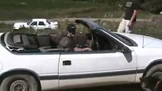 getlinkyoutube.com-#710 jumping and trashing a lebaron convertible [Davidsfarm]