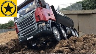 getlinkyoutube.com-BRUDER MAGOM RC Scania 8X8 for BWORLD Construction OUTDOOR TESTDRIVE by Jack 4