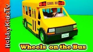 getlinkyoutube.com-Wheels on the Bus Song Playmobil Bus Toy, Box Opening and Review by HobbyKidsTV