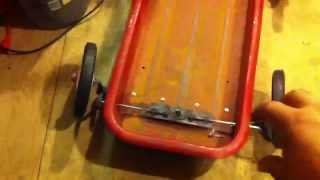 getlinkyoutube.com-How to build a lowered steerable radio flyer red wagon
