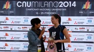 La capitana del CUS Milano volley Campione d'Italia dei CNUMilano2014, Annalisa Cartabia