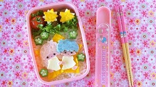 getlinkyoutube.com-How to Make Kiki & Lala Little Twin Stars Bento Lunch Box (Recipe) キキララ弁当の作り方 (レシピ)