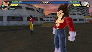 getlinkyoutube.com-Majin Gogeta SSJ4 VS Omega Shenron (Goku SSJ4 and Majin Vegeta SSJ4 Fusion Mod in DBZ Tenkaichi 3)