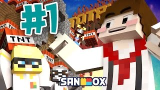 getlinkyoutube.com-건물 폭파단 도잠비빅!! [마인크래프트 TNT 챌린지: 건물폭파 #1편] Minecraft - TNT Challenge - [도티]