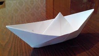 getlinkyoutube.com-Как сделать кораблик оригами, origami boat