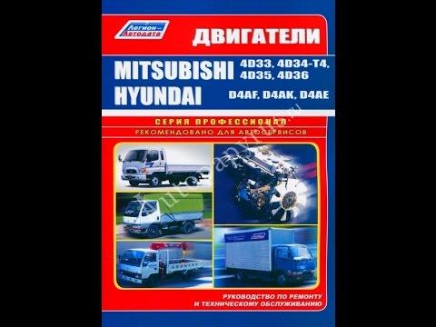 Руководство по ремонту Двигатели MITSUBISHI 4D33 D4AF