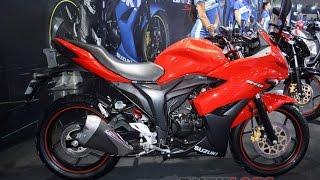 getlinkyoutube.com-Suzuki gixxer sf red color 2016