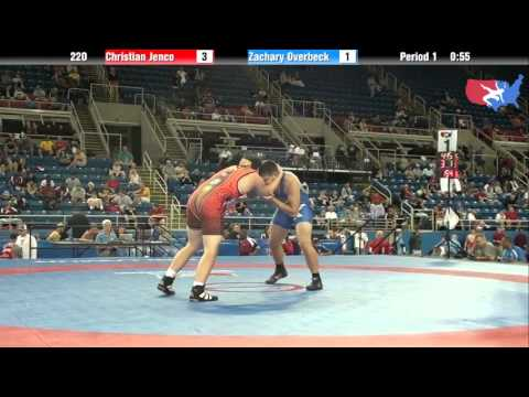 Fargo 2012 220 Round 1: Christian Jenco (New Jersey) vs. Zachary Overbeck (Oklahoma)