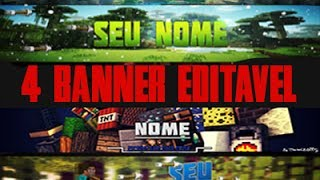getlinkyoutube.com-banner de minecraft editavel + download (PHOTOSHOP CC)