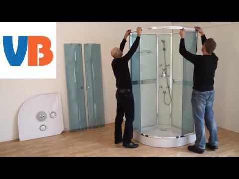 Come montare un box doccia semicircolare fai da te mania - Montare una porta a soffietto ...
