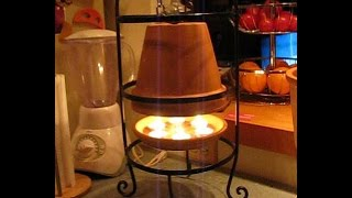 getlinkyoutube.com-Terracotta Candle Heater