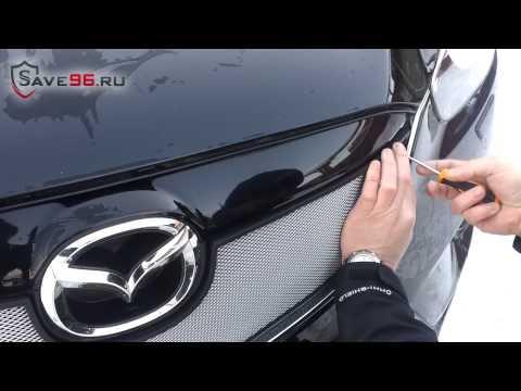 Защита радиатора на Mazda CX-5 (Мазда СХ-5) 2012-2014 г.в.