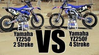 getlinkyoutube.com-Yamaha YZ250 2 Stroke versus Yamaha YZ250F - Motocross Action
