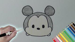 getlinkyoutube.com-簡単お絵かき!ミッキーMickeyの描き方 ツムツムのキャラクター描いてみよう!How To Draw Tsum Tsum Friends