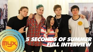 getlinkyoutube.com-5 SECONDS OF SUMMER Interview With VJ AI!