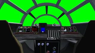 getlinkyoutube.com-millennium falcon cockpit - 01 -  green screen effects