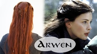 getlinkyoutube.com-Lord of the Rings Hair Tutorial - Arwen Flight to the Ford