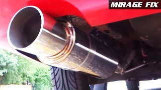"getlinkyoutube.com-Mirage Fix 16 | Ebay 4"" Tip N1 Stainless Exhaust Muffler"