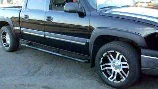 "getlinkyoutube.com-2005 Chevrolet Silverado 1500 LT, Crew cab, 4x4 Z71, 5.3 V8, Leather, 20"" inch wheels!!!"