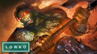 Warcraft 3: DRINKING THE BLOOD OF MANNOROTH! (Orc Campaign)
