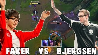 getlinkyoutube.com-WHEN BJERGSEN VS FAKER IN NA CHALLENGER