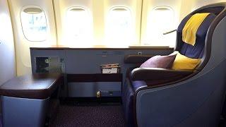 getlinkyoutube.com-Thai Airways | 747-400 | BKK-HKG | First Class