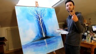 getlinkyoutube.com-speed paint tree glow in the dark by crisco art