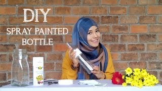 getlinkyoutube.com-Menghias Botol Bekas dengan Cat Semprot - Spray Painted Bottle