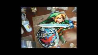 getlinkyoutube.com-Link from the legend of zelda made whit beads - perler time lapse