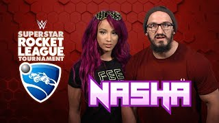 NASHA (Sasha Banks & Neville) WANT THE GOLD!!! — WWE Superstar Rocket League Tournament