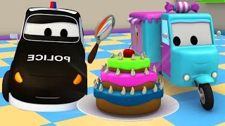 The Car Patrol : Police Car & Fire Truck of Car City and the Stolen Cakes 🚓 🚒 Cartoons for Kids