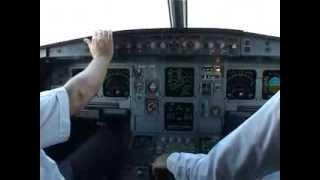 getlinkyoutube.com-Cockpit flight Thessaloniki- Paris with Cyprus Airways Airbus 319 pt1 (eng sub) take off