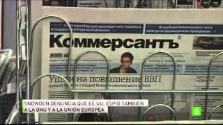 Snowden denuncia más espionaje a la ONU y a la Unión Europea