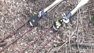 getlinkyoutube.com-Mechanical Advantage Using a Rope and Pulleys for Vehicle Recovery 9:1