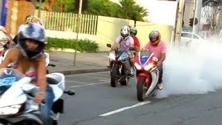Honda CBR 1000RR HRC Burnout, 600RR & Bandit Wheelie, GSXR750 ZX6R S1000RR R6 - Loud Sounds