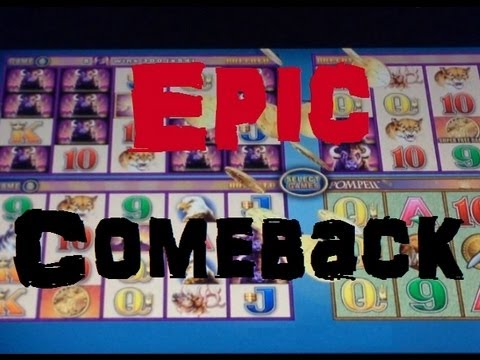 Wonder 4 Epic Comeback Slot Machine Bonus - BIG WIN on Buffalo and Pompeii ~ Aristocrat