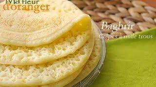 getlinkyoutube.com-Recette de Baghrir : Crêpes à mille trous /  Moroccan pancakes recipe