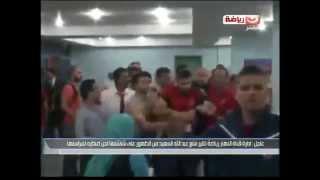 تفاصيل اعتداء عبد الله السعيد لاعب الاهلى على مراسل النهار رياضة