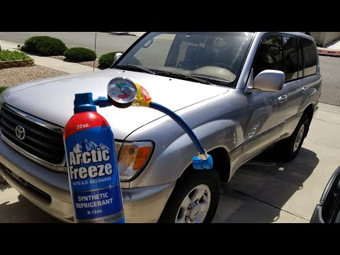 DIY - How To Recharge The A/C - 2000 Toyota Land Cruiser 100 Series