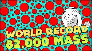 getlinkyoutube.com-BIGGEST AGAR.IO CELL!! WORLD RECORD: 82 000 AGARIO MASS - GOT HUGE SUPER FAST!! (Agario #67)