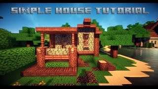 getlinkyoutube.com-Minecraft Simple House Tutorial