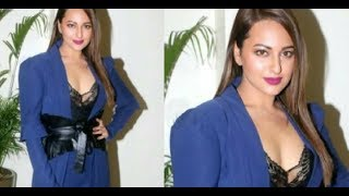 Sonakshi Sinha Hot Cleavage in Ittefaq Promotion width=