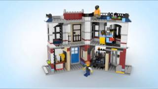 getlinkyoutube.com-Lego Creator | 31026 | Bike Shop and Cafe | Lego 3D Review