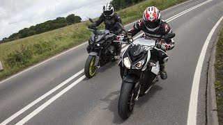 getlinkyoutube.com-Yamaha MT-10 vs BMW S1000R review | Visordown road test