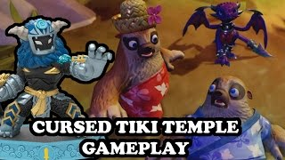 Skylanders Imaginators - NEW LEVEL! Cursed Tiki Temple + Wild Storm GAMEPLAY