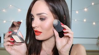 getlinkyoutube.com-Simple Everyday STROBE Makeup Look with Red Lip \\ HOURGLASS COSMETICS